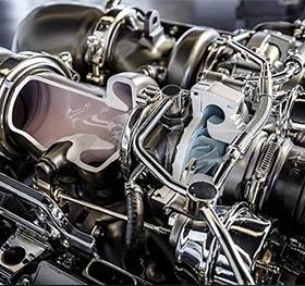 光学测量仪检测发动机缸体